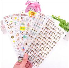 Envío gratis 1 pack / 6 hoja encantadora transparente planner calendar libro del diario pegatinas escritorio de la pared scrapbooking(China (Mainland))