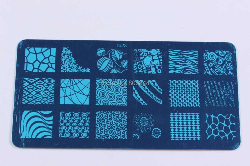 16 pçs/lote Konad Design placa Stamp estamparia imagem modelo placa imagem Nail Art DIY a 17-32 # YH002