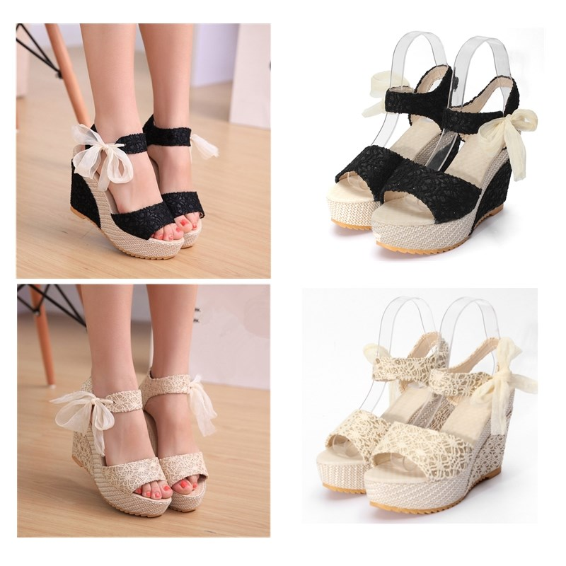 Designer Lace up Sandals Platform Lace-up Sandals
