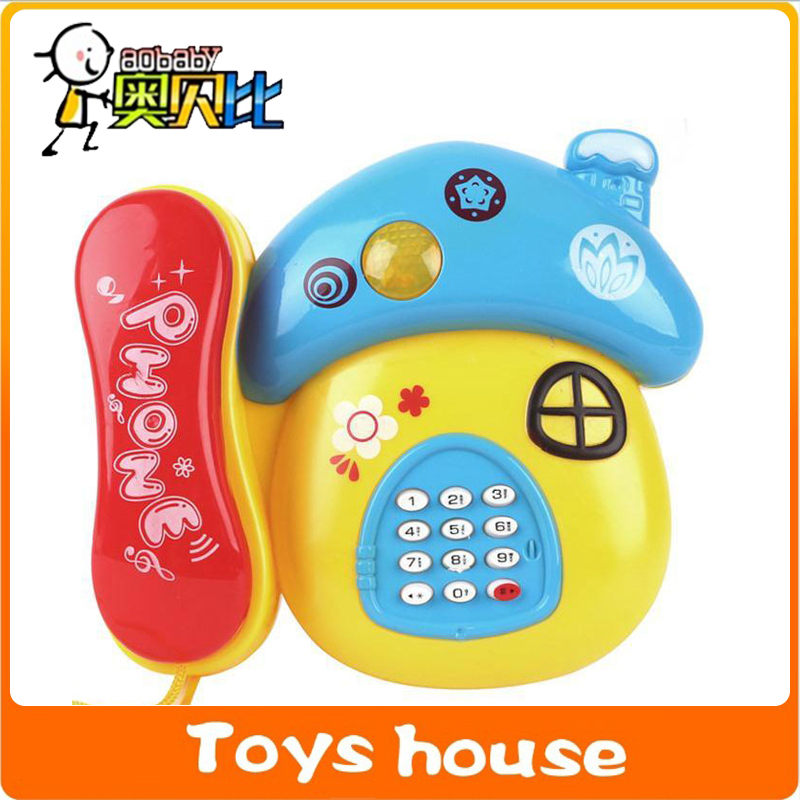 Mushrooom electronic toys baby phone children's phone toy telephone music mobile phone child music phone(China (Mainland))