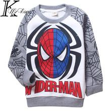 2015 Cartoon kids boy spiderman t shirt Sweatshirts camisetas y tops long sleeve cartoon sudadera boys clothing 4-12 yrs - MrKong shop store