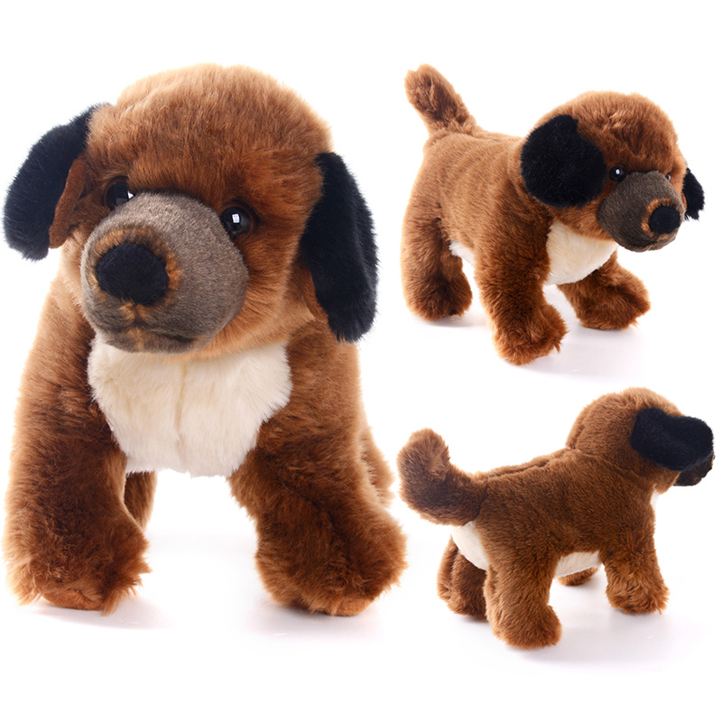 "Delivery USA Simulation Stuffed Animal Dog Dolls Plush Dog Toys Birthday Gifts For Kids Children Collection 12*4""(30*10cm)(China (Mainland))"