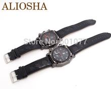 ALIOSHA wholesale men s big face wirstwatches V6 fashion leather strap quartz watch sports wrist watches