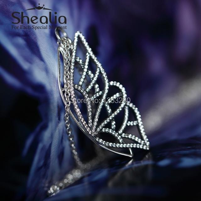 Весна 925 чистое серебро бабочка подвески вымощает ожерелье кулон SHEALIA ювелирные изделия ( включая ожерелье ) NP006