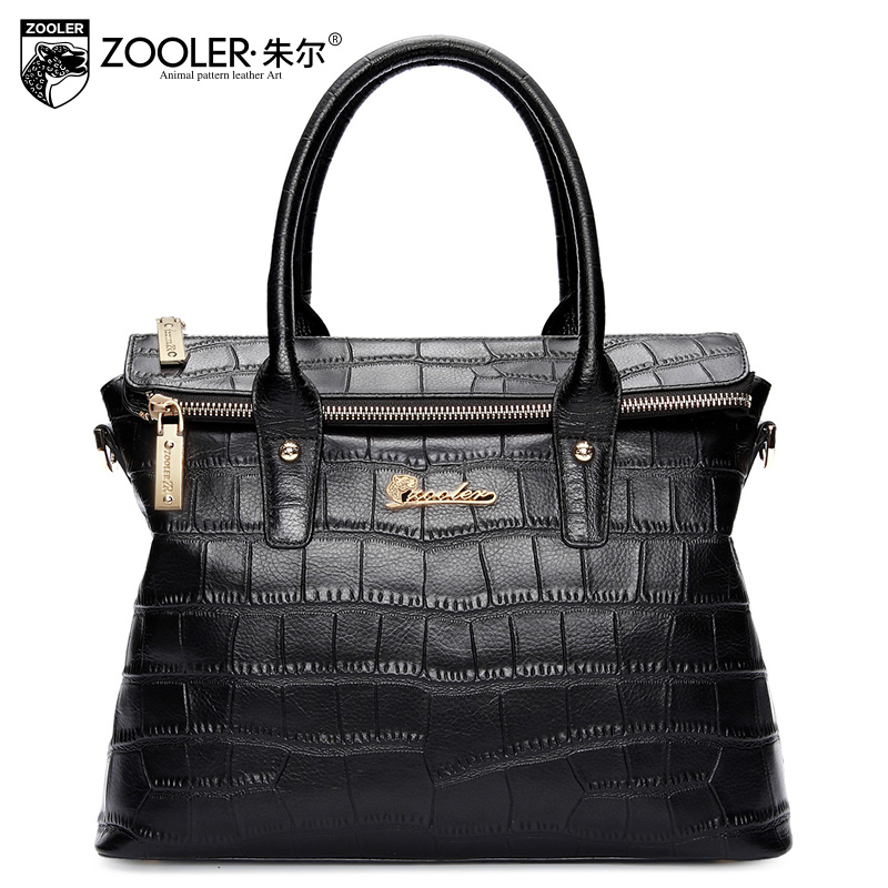 Фотография ZOOLER new 2016 cow leather tote women bag crossbody Genuine Leather handbags ladies shoulder bags designer Alligator handbag