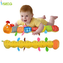 2016 New Baby Toy Musical Caterpillar Rattle with Ring Bell Cute Cartoon Animal Plush Doll Early Educational DS060(China (Mainland))