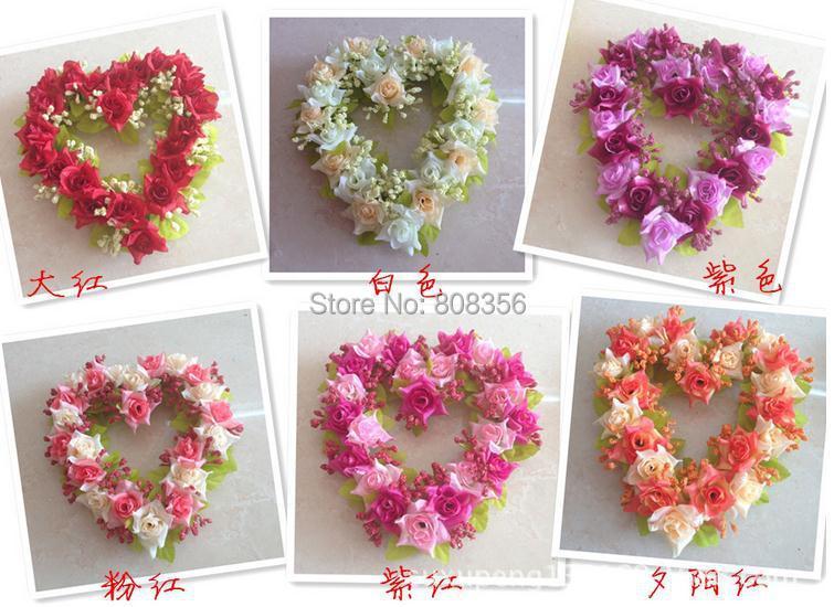 Achetez en gros augment couronne coeur en ligne des grossistes augment co - Coeur fleurs artificielles ...
