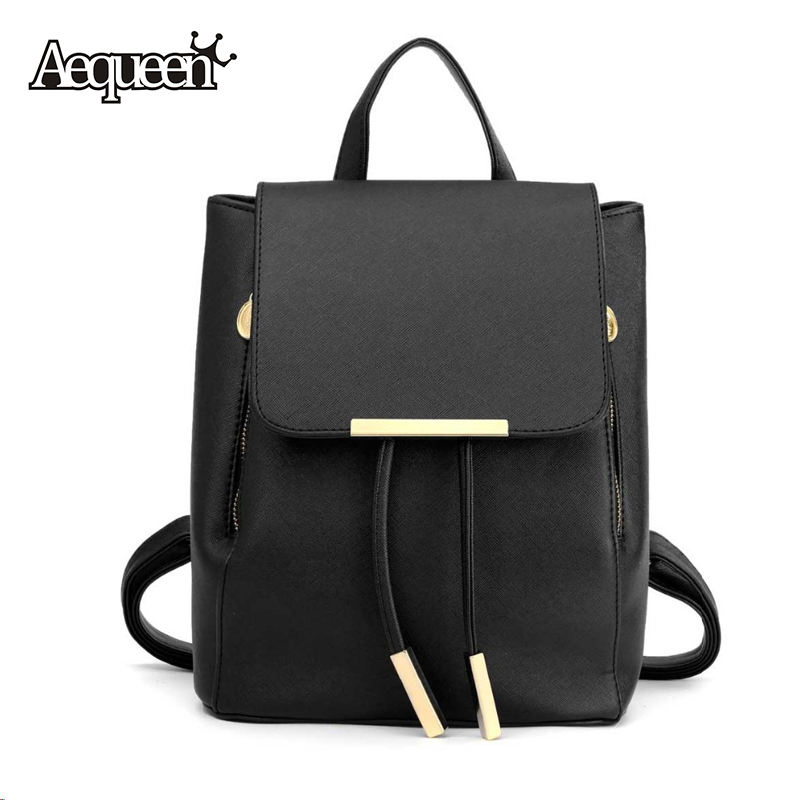 New Women Leather Backpack Girls Solid Students Schoolbags Female Preppy Style College Shoulder Bags Mochila Fashion 4 Colors(China (Mainland))