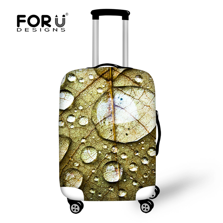 Anti-dust Covers for Suitcases Fashion Leaves Pattern Design Luggage Protective Covers for 18-30 inch Trunk Case Thicken Cover(China (Mainland))