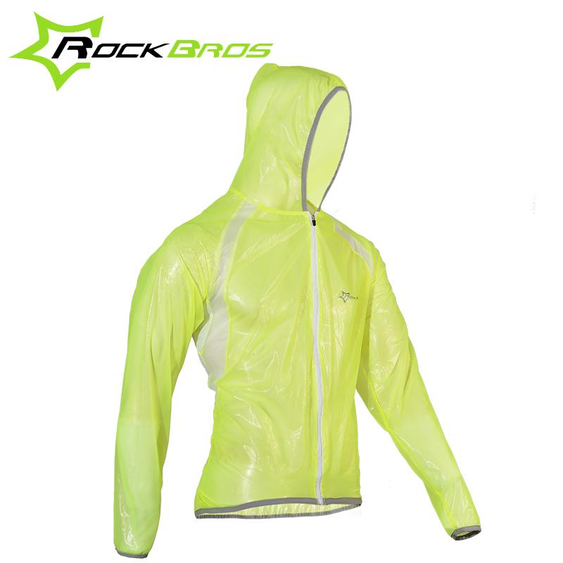 RockBros Men Bicycle Cycling Clothing Breathable Reflective Waterproof Jersey Bicicleta Road Bike Raincoat Wind Coat Jacket(China (Mainland))