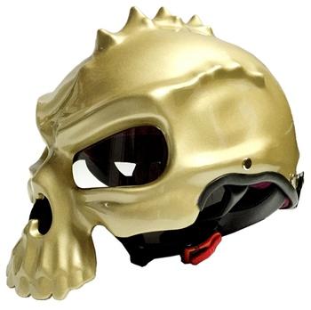 2016 Punk Skull Motorcycle Helmet Half Face Helmet Motorbike Capacetes Casco Retro Casque