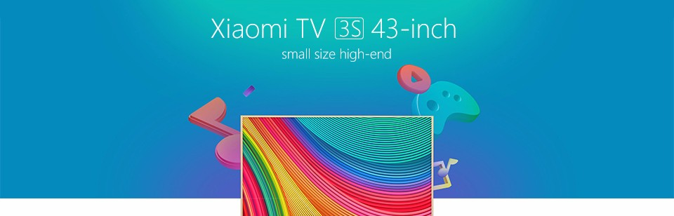 Original xiaomi Smart Mi TV 3S 43″Inch Mstar 6A908 1920*1080 Full HD Quad Core Ultra thin 2.4/5GHz BT 4.0