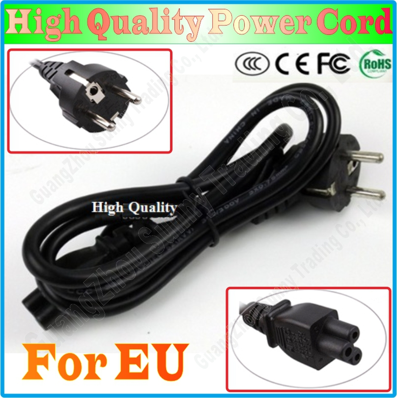 EU EUROPEAN 3 Prong 2 Pin AC Laptop Power Cord For Asus HP Sony Dell lenovo Acer Sumsung High Quality, Free&Shipping(China (Mainland))