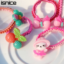Buy 15pcs isnice New lovely cartoon fruit Colorful Child Kids Hair Holders Rubber Bands Hair Elastics Accessories Girl Tie Gum for $3.40 in AliExpress store