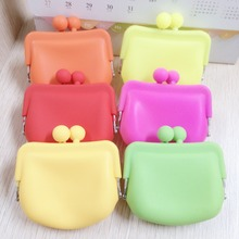 2016 fashion Girls Coin Bags Wallets  Silicone Mini Coin Purse Children Kids 6 COLOR