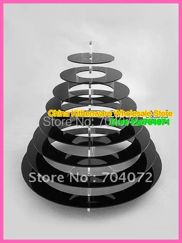 2015 Real Baking Tools for Cakes Transport Tools free Shipping 9 Tier White Macaron Display Stand - Holds 130 Macarons Macaroon