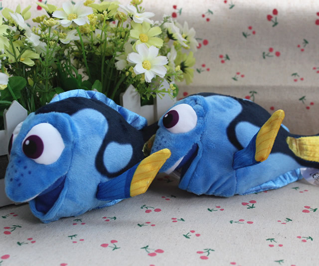 Free Shipping 18cm=7.1Inch Original Cartoon Finding Nemo Doll Dory Fish Stuffed Animal Soft Plush Toy Soft Doll For Baby Gift(China (Mainland))