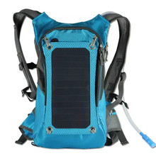 KUNDUI High quality 5V Solar Panel Battery Charging Business Travel Backpacks Tourism Bags USB Output Charger Backpack Bag(China (Mainland))