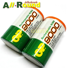 2pcs Good quality GP rechargeable battery d size 1.2V ni-mh 9000mAh bateria recarregavel D type with good quality and best price(China (Mainland))