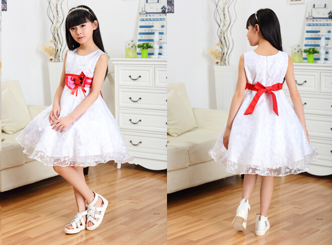 2015 new summer Girls little princess dress necessary joker versatile model dresses children's Dresses Top Quality(China (Mainland))