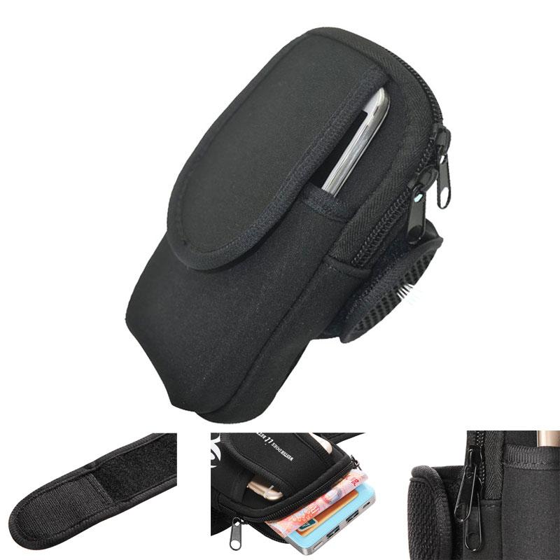 Nylon Double Pockets Zipper Design Mobile Pouch Armband font b Bag b font Strap Running font