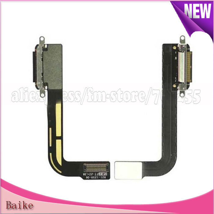 Replacement Charger Dock Connector Flex Cable for Ipad 3 100% Guarantee High Quality(China (Mainland))