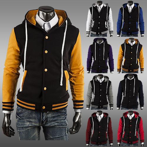 2015 NEW Hot Men's Jacket ,Baseball Jackets Men Fashion Coat Male Outwear Jackets Classic Hoodie Sweatshirts Men Free Shipping(China (Mainland))