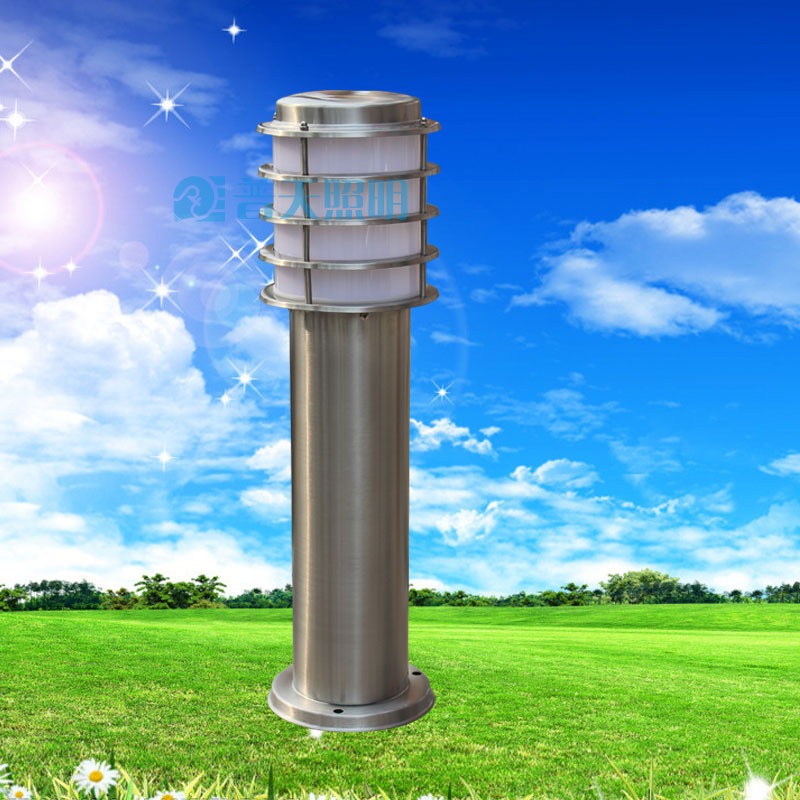 Plaid stainless steel lawn lamp post caplights landscape lamp villa lamp strightlightsstreetlights outdoor waterproof lights(China (Mainland))