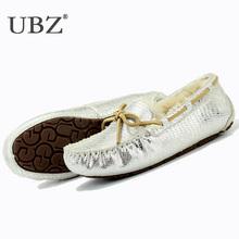 Ubz lanas dentro de piel botas de nieve corta de piel de oveja natural impermeable botas de invierno de las mujeres dulces botas de zapatos de invierno(China (Mainland))
