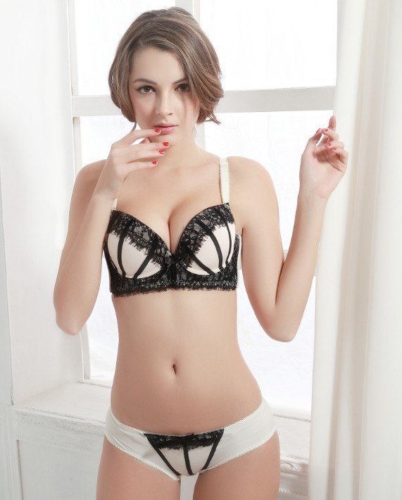 Amusing question Lovely latina in a white lace bra does not