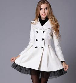 Images of White Dress Coat - Reikian