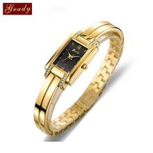 New Brand Grady fashion 18k Gold-plated women watches 3atm waterproof  ladies Quartz Watch Women Wristwatches Free Shipping