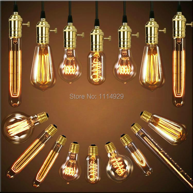 Гаджет  Single American Vintage Pendant Lights Copper Lamp Holder Tungsten Bulbs Industry Pendant Lamps E27 W-filament Bulbs 110-220V None Свет и освещение