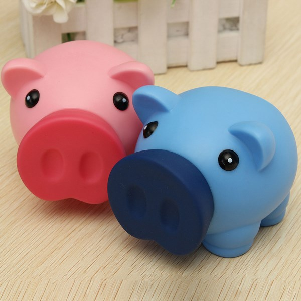 New arrival cute plastic piggy bank saving cash coin money Plastic piggy banks for kids