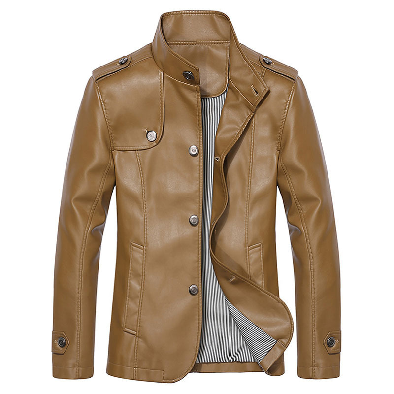 Brand Faux Leather Jacket Men Winter Jackets Mens Leather ...