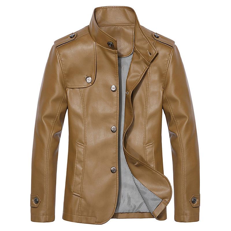 Brand Faux Leather Jacket Men Winter Jackets Mens Leather Jacket Men Famous Brand Mens ...