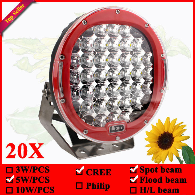 4x4 Auto Offroad 9inch LED Spotlight 185watt LED Car Light 185W LED Driving Light for Jeep SUV ATV 20X With Spot + Flood cover(China (Mainland))