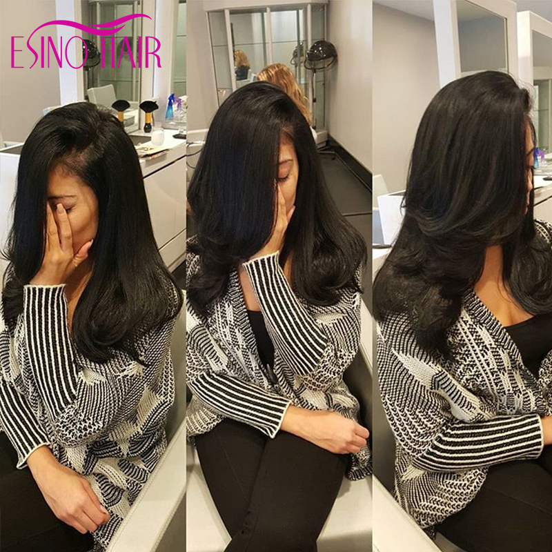 Long Straight Side Part Human Hair Full Lace Wigs With Bangs 100 Human Hair Front Lace Wig With Natural Hairline Big Bangs<br><br>Aliexpress