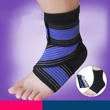 2sets Aolikes Professional Stretch Wrapped Ankle Pressurized Bandage+Protective Pad for Fitness Running Sport Ankle Support Belt(China (Mainland))