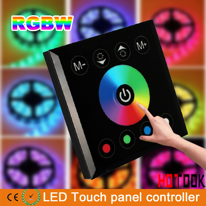 2014 new DC 12-24V Wireless LED Controller Touch Panel Dimmer RGB STRIP LIGHT X black - HOTOOK Official Store store