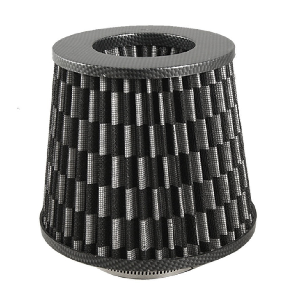 """3"""" Universal High Flow Carbon Fiber Dry Cone Cold Air Intake Filter Black(China (Mainland))"""