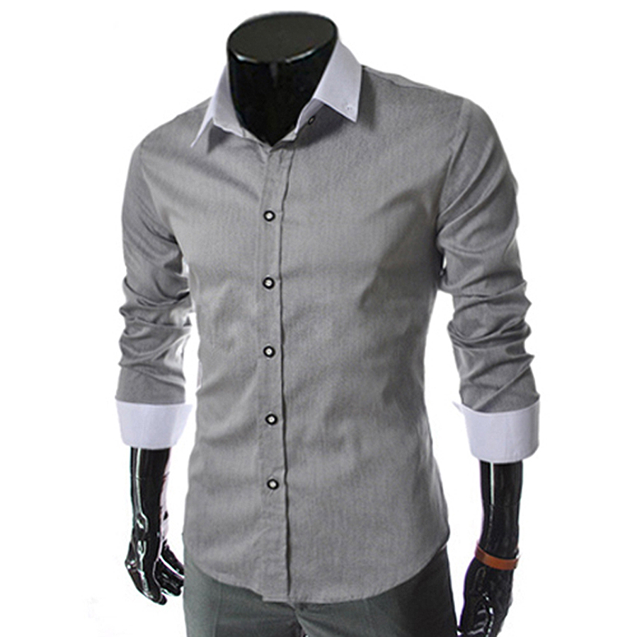 Buy 2016 new free shipping mens slim fit for Where to buy casual dress shirts