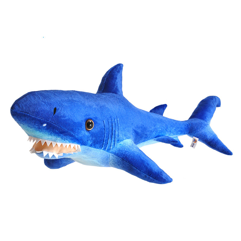 Stuffed Animals Big Size 60cm Simulation Shark Creative Plush Toy Cushion Pillow Home Decor Toys for Children/friend Gifts(China (Mainland))