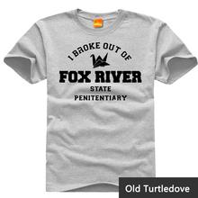 Prison Break Fox River O-neck Casual t-shirts Short Sleeve For Men T-shirt for Gameplayer Man Woman t shirt No5