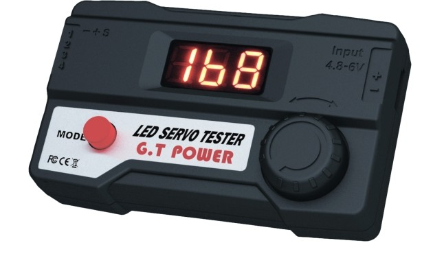 F05767 G.T.Power Digital LED Servo Tester for RC Car Trucks Planes Helicopters with FreeShipping(China (Mainland))