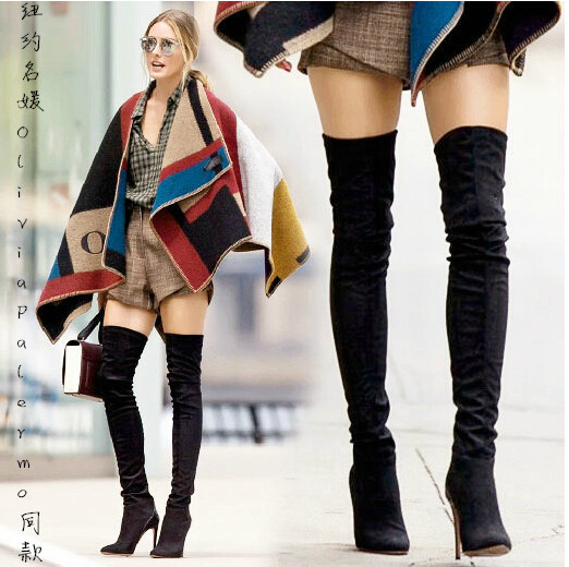 New Arrival OliviaPalermo style women knee high boots Long boots Red bottom style thigh high woman long genuine leather boots(China (Mainland))