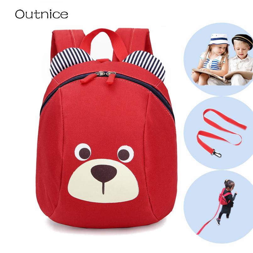 Aged 1-3 Toddler backpack Anti-lost kids baby bag cute animal dog children backpacks kindergarten school bag mochila escolar(China (Mainland))
