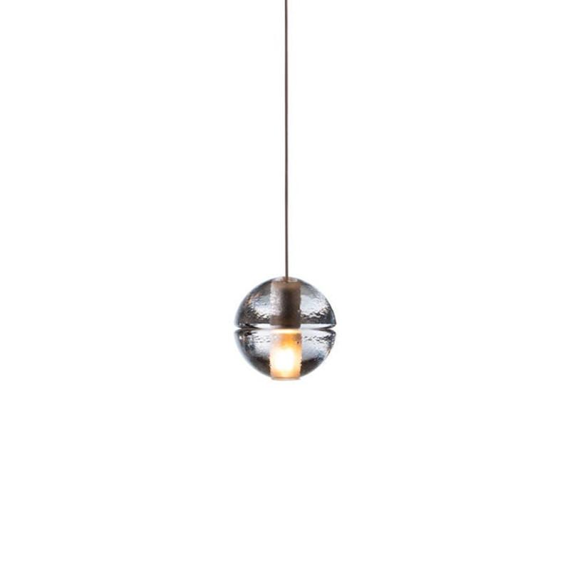 Single Transparent Crystal Glass Ball Pendant Lights 1 LED Meteor Shower Fixtures Home Decor Child Bedroom Hallway Lustres PL292<br><br>Aliexpress