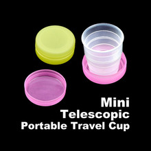 Folding Portable Collapsible Telescopic Plastic Cups For Camping Hiking HB88(China (Mainland))
