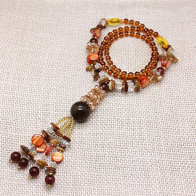 Высокое качество 2016 новый агат камень оболочки кристалл бусины длинные ожерелья ...